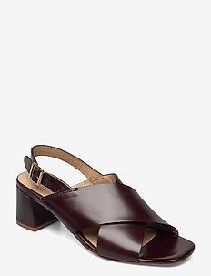 Sandals - Block heels - højhælede sandaler - 1836 dark brown