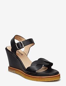 Sandals - wedge - 1785 BLACK
