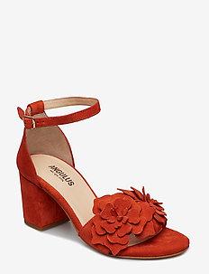 Sandals - block heels - open toe - 2200 ORANGE