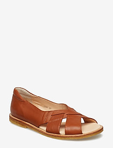 Sandals - flat - open toe - op - sandales - 1431/002 cognac/brown