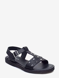 Sandals - flat - open toe - op - 1933 BLACK