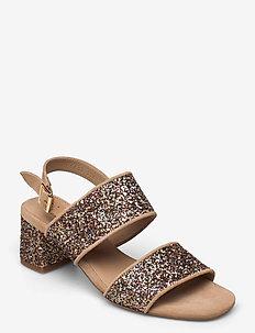 Sandals - Block heels - sandalen mit absatz - 1149/2488 sand/multi glitter