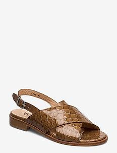 Sandals - flat - 1671 TAN KROKODILLE
