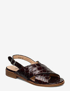 Sandals - flat - 1672 BROWN CROCO