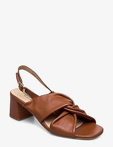 Sandals - Block heels - 1431 COGNAC