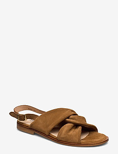 Sandals - flat - open toe - op - 1168 TAN