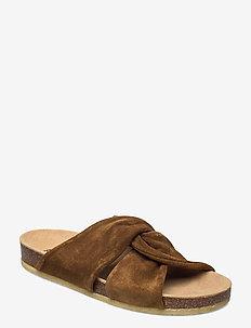 Sandals - flat - open toe - op - flache sandalen - 2209 mustard