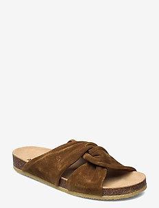 Sandals - flat - open toe - op - flade sandaler - 2209 mustard
