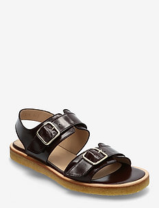Sandals - flat - open toe - op - flache sandalen - 1836 dark brown