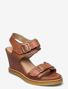 Sandals - wedge - kilehæl - 1789 tan