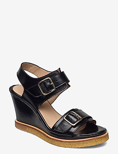 Sandals - wedge - kilehæl - 1835 black