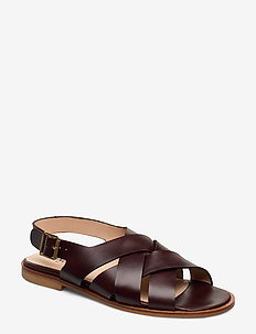 Sandals - flat - open toe - op - 1836 DARK BROWN