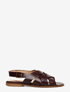 Sandals - flat - open toe - op - platta sandaler - 1836 dark brown