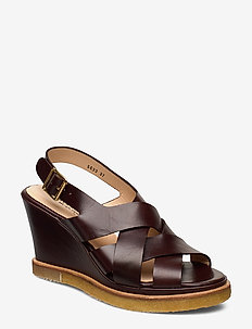 Sandals - wedge - 1836 DARK BROWN