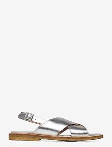 Sandals - flat - open toe - op - flache sandalen - 1782 silver