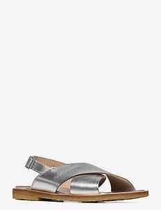 Sandals - flat - open toe - op - platta sandaler - 1782 silver