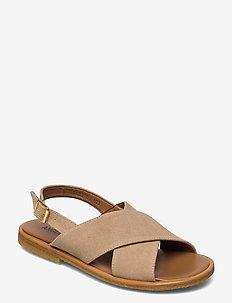 Sandals - flat - open toe - op - flache sandalen - 2670 sand