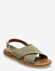 Sandals - flat - open toe - op - flache sandalen - 2671 light khaki