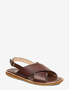 Sandals - flat - open toe - op - 1788 COFFEE BROWN