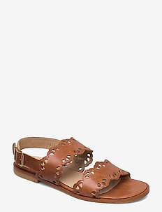 Sandals - flat - open toe - op - flade sandaler - 1789 tan