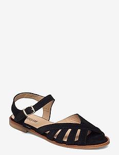 Sandals - flat - open toe - op - flache sandalen - 1163 black