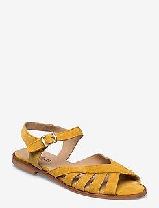 Sandals - flat - open toe - op - flade sandaler - 2201 yellow