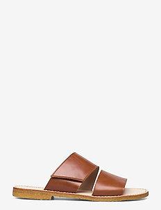 Sandals - flat - open toe - op - platta sandaler - 1838 cognac
