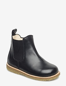 Booties - flat - with zipper - 1604/001 BLACK/BLACK