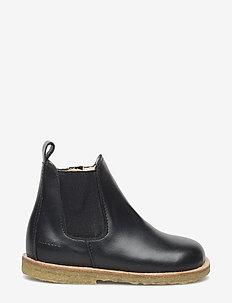 Booties - flat - with zipper - støvler - 1604/001 black/black