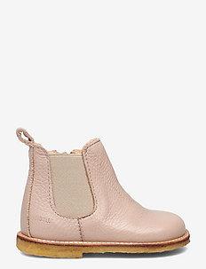 Booties - flat - with zipper - støvler - 2553/010 powder/beige