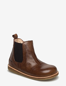 Booties - flat - with zipper - laarzen - 2509/002 medium brown/medium b