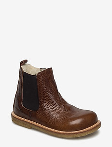 Boots - flat - zipper - bottes - 2509/002 medium brown/medium b