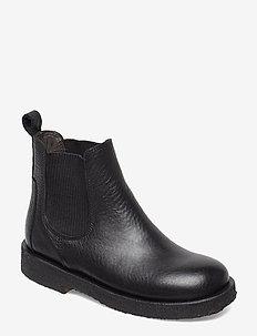Booties - flat - with elastic - 1933/019 BLACK/BLACK