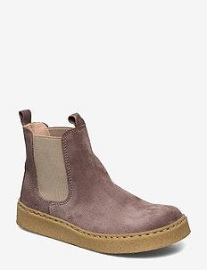 Booties - flat - with elastic - kozaki - 2202/010 lavender/beige