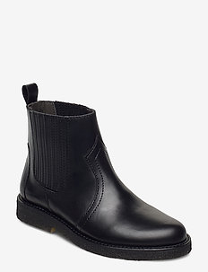 Booties - flat - with elastic - kozaki - 1835/001 black/black