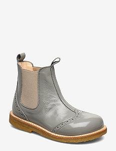 Booties - flat - with elastic - laarzen - 1352/010 dusty mint/beige