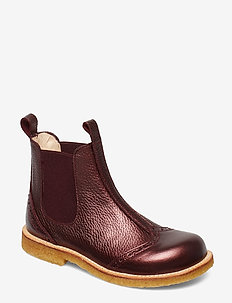 Booties - flat - with elastic - 1536/031 BORDEAUX SHINE/ BORDE