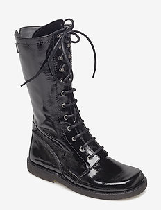 Long boot with laces. - kozaki klasyczne - 1310 black