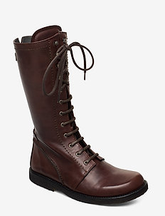 Long boot with laces. - pitkävartiset saappaat - 1562 angulus brown