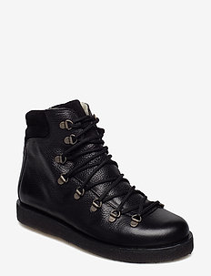 Boots - flat - with laces - platta ankelboots - 2504/1163 black/black