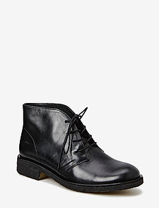 Booties - flat - 1604 BLACK