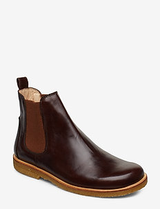 Booties-flat - with elastic - 1836/040 D.BROWN/BROWN
