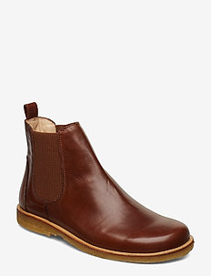 Booties-flat - with elastic - chelsea boots - 1837/040 brown/ brown