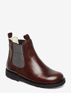 Chelsea boot - 1836/044 DARK BROWN/CHECKED EL