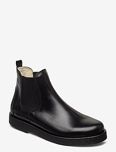 Chelsea boot - talon bas - 1835/019 sort/sort