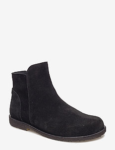 Booties - flat - with zipper - 1163 BLACK