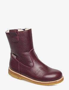 Boots - flat - vinterstøvler - 2544/2544 bordeaux/bordeaux