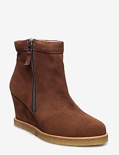 Boots - wedge - warm lined - 1166 cognac