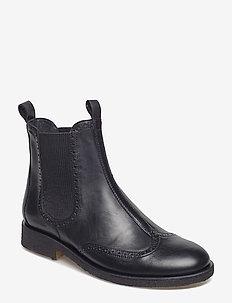 Booties - flat - with elastic - 1604/019 BLACK/BLACK