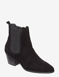 Booties - Block heel - with elas - 1163/019 BLACK/BLACK
